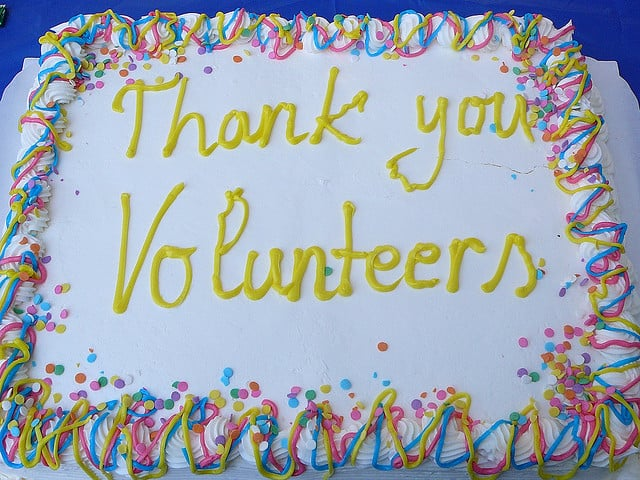 Volunteers take the cake