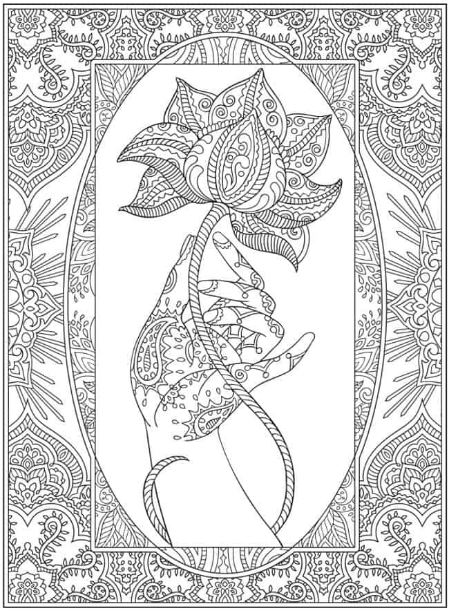 Coloring to relax your brain, boost creativity and keep writing. Coloring pages free downloadable