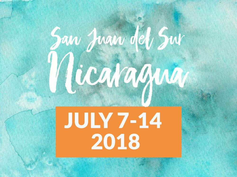 Join me in Nicaragua to finish writing your book